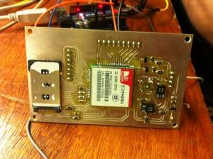 Milled SIM900-board