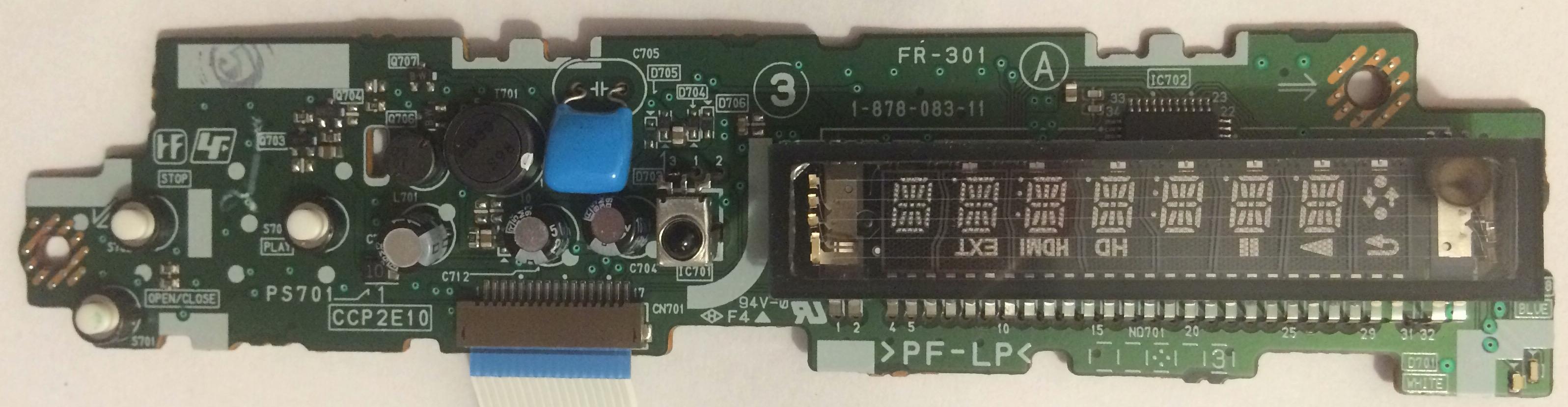 BDP-S360 VFD Front panel